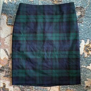 JCrew plaid skirt size 4
